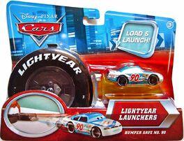 Bumper save final lap wheel launcher