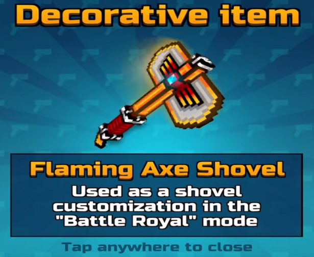 Flaming Axe Shovel