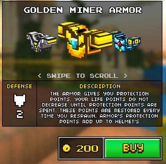 Golden Miner Armor