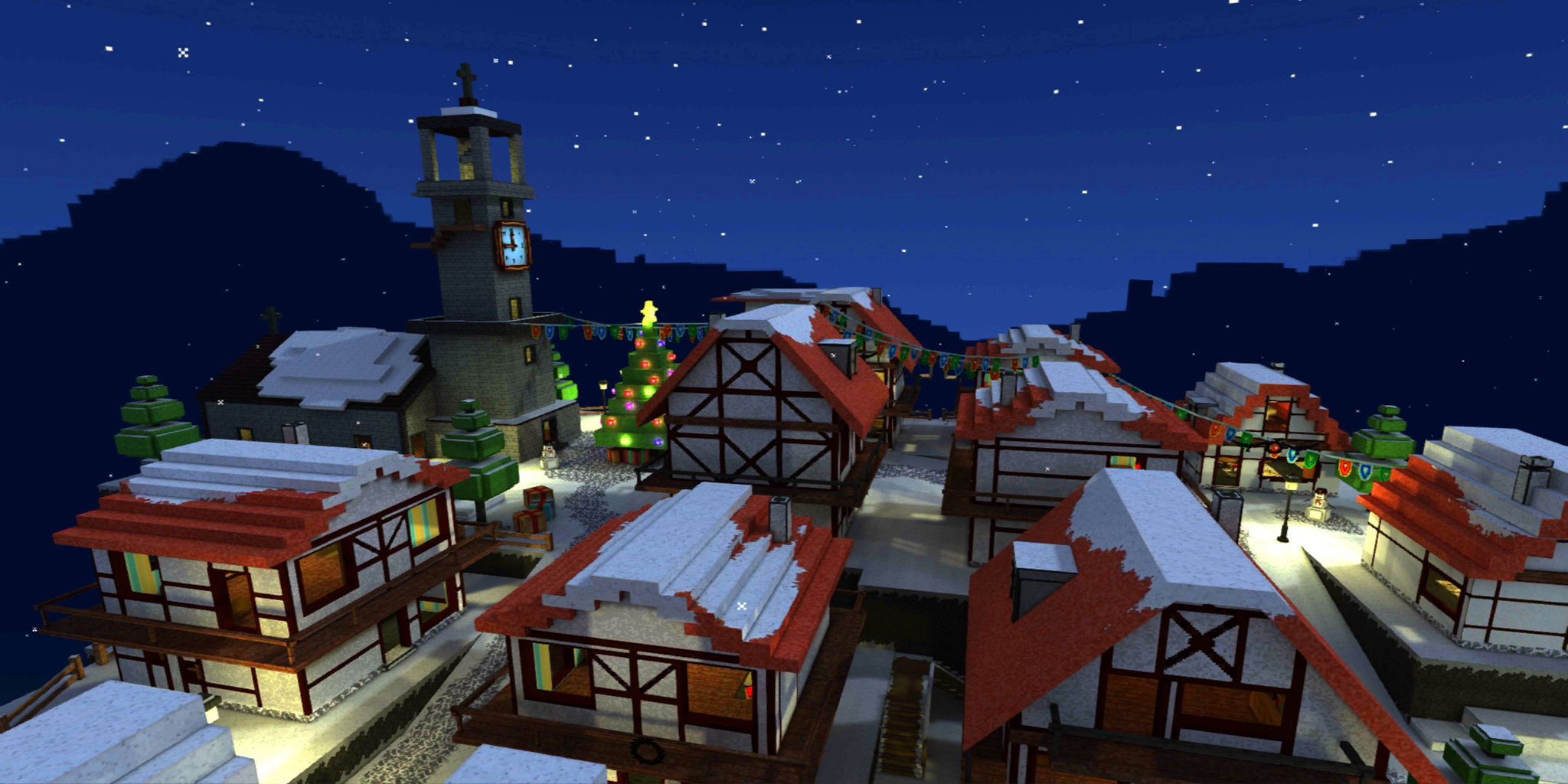 Night Christmas Town