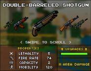 Double Barreled Shotgun in Shop