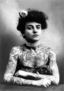 Woman with upper body tattooed 1907 cph.3a01441
