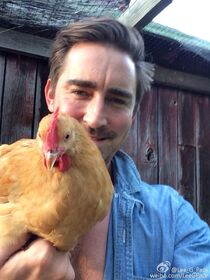 Lee Pace with a chicken.jpg