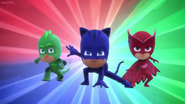 PJ Masks pose (Owlette and the Moon Ball)