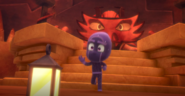Teeny Weeny Ninjalino grabs the lantern and runs away from the cave