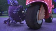 Were-Marvin sniffs Owlette's PJ Rover