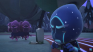 Night Ninja and the Ninjalinos hear Robot.