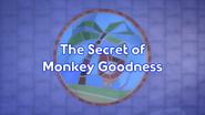The Secret of Monkey Goodness Title Card