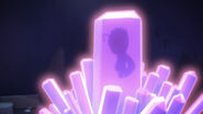 Mothzuki (as a humanoid) in the crystal