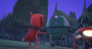 Owlette faces off against Robot.