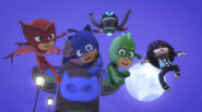 Kevin joins the PJ Masks in their victory pose