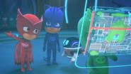 Owlette explains what happened to PJ Robot