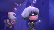Luna Girl shows Motsuki the paintings