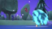 Octobella watches Catboy and Owlette getting brainwashed by her glowy orbs