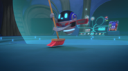 Pj robot sweeping