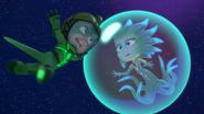Gekko boards Octobella's bubble