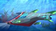 The PJ Sub underwater