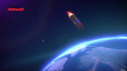 HQ Flying Back from Space to Earth