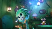 Octobella's fake smile