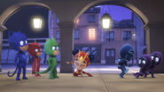 An Yu surprises the PJ Masks, Night Ninja, and the Ninjalinos