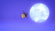 Hq rocket in the sky
