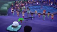 Luna Girl in front of Moonfizzled people