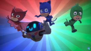 The PJ Masks victory pose in Romeo's Disguise..png