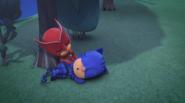 Chicklette and Kitten Boy sleeping