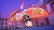 Munki Gu behind the dragon float