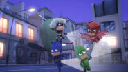 The PJ Masks and Luna Girl lead the moths with light