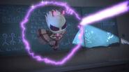 Motsuki gets trapped in a Luna Magnet beam