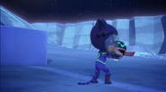 Catboy hugs PJ Robot