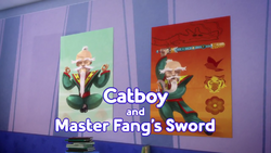 Catboy and Master Fangs Sword Card.png