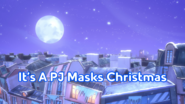It's A PJ Masks Christmas Title Card