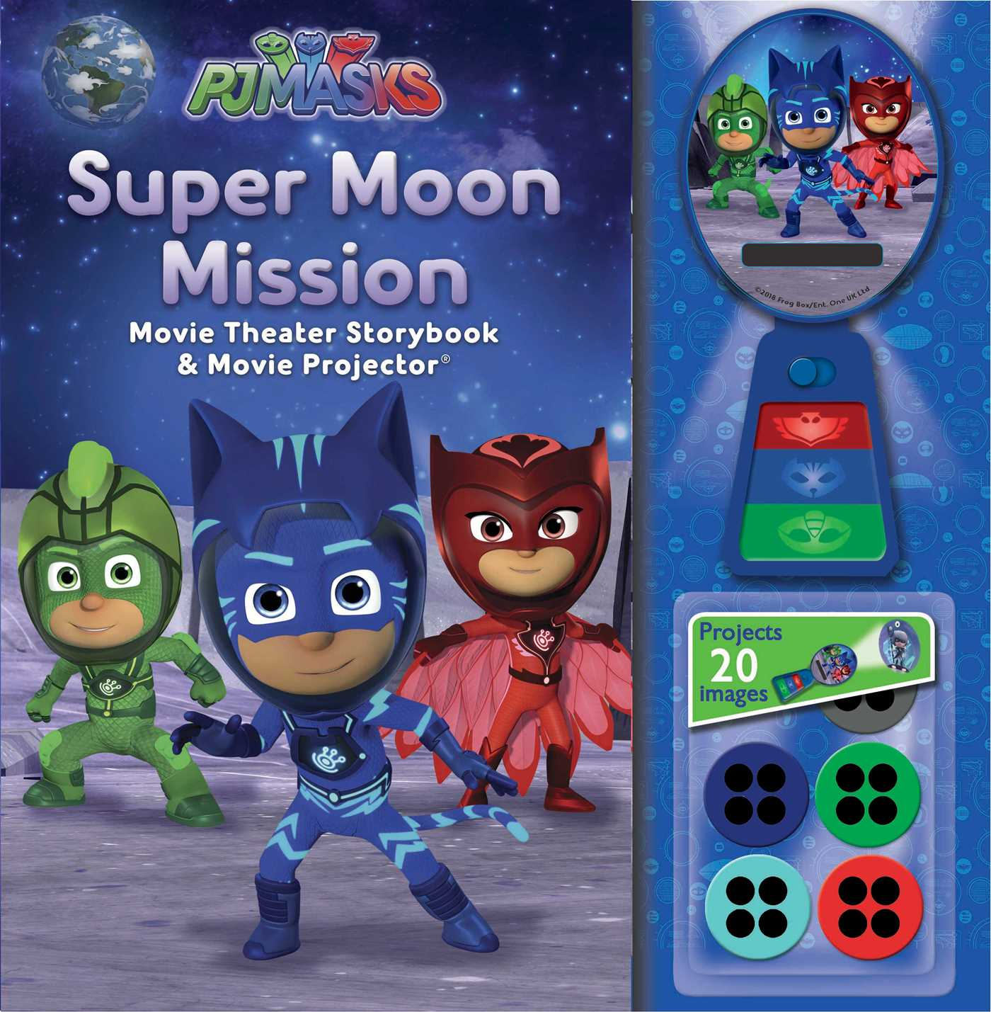 PJ Masks Super Moon Mission Movie Theater Storybook & Projector Book