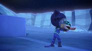 Catboy gives PJ Robot a hug