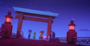 The PJ Masks searching for Night Ninja