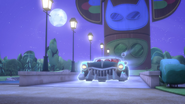 The Wolfies driving off with the moon-powered-up Wolf Wheelz