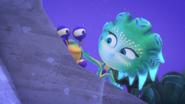 Octobella and Percival peeking