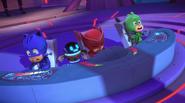 The PJs and PJ Robot feel the crash