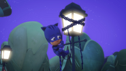 Catboy is stuck up on a lampost 02