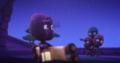 Night Ninja sends Teeny Weeny into the cave while he and the other Ninjalinos stand guard