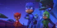 The PJ Masks find and confront Night Ninja
