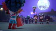 Cameron gets surrounded by the nighttime villains