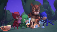 PJ Masks and Armadyaln confronting Bad Guys United