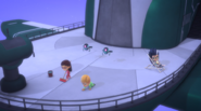 Owlette and Gekko cleaning the Sky Factory