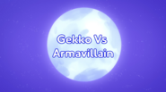 Gekko VS Armavillain title card