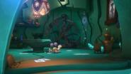 Percival in Octobella's lair