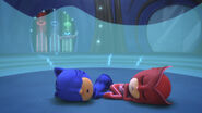Catboy and Owlette are fast asleep