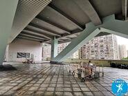 正值2019冠狀病毒肆港期間的龍翔辦公大樓平台 202008